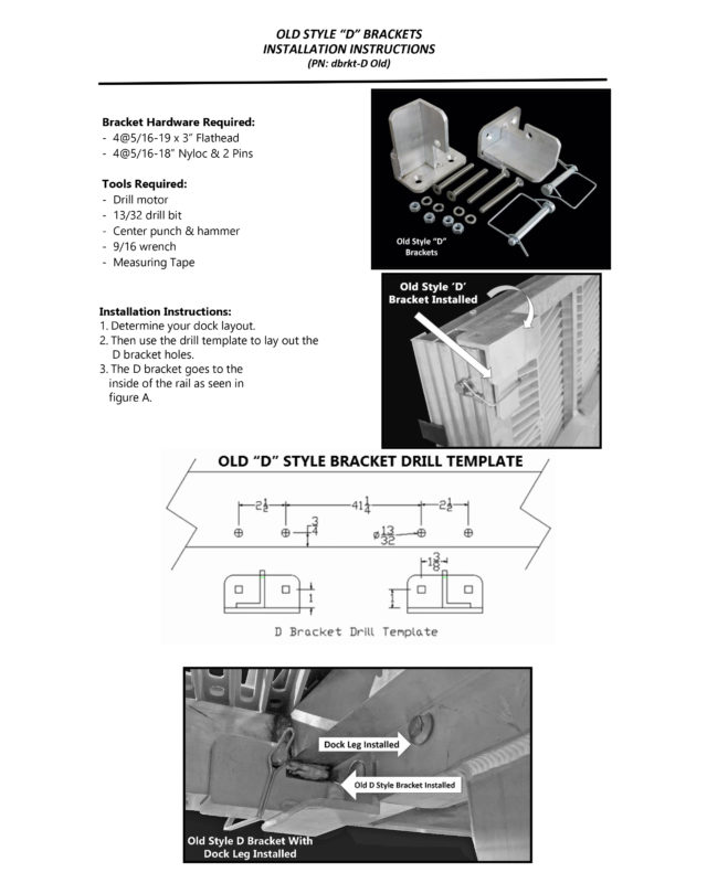 Old Style D Bracket Install Instructions